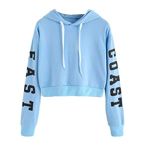 5c51106531cba0 Btruely Hoodie Pullover Damen Herbst Mode Hooded Sweatshirt Mädchen Pullover